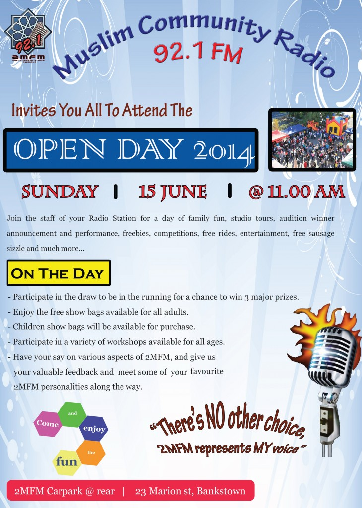 2MFM Open Day 2014