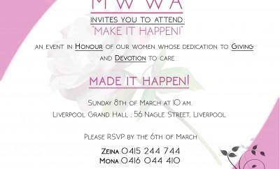 mwwa-International Womens day - Make it happen