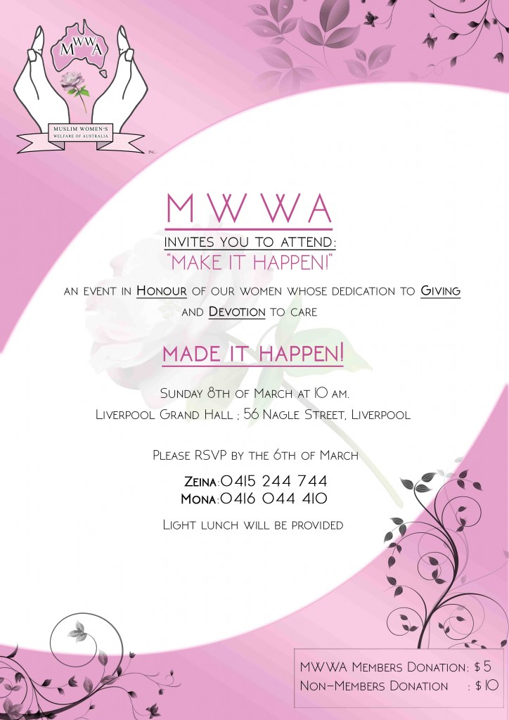 mwwa-International Womens day - Make it happen