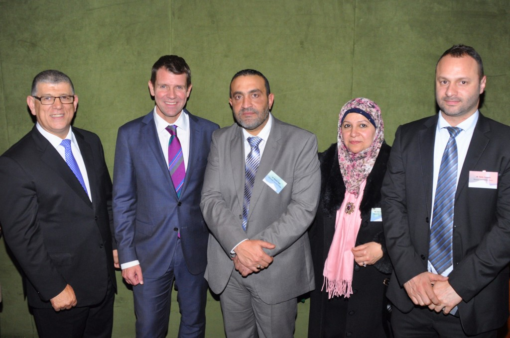 The president of MWWA Mrs Faten El Dana OAM at the Multicultural Community Reception hosted last Wednesday by Minister for Multiculturalism John Ajaka at Parliament House and attended by NSW Premier Mike Baird.