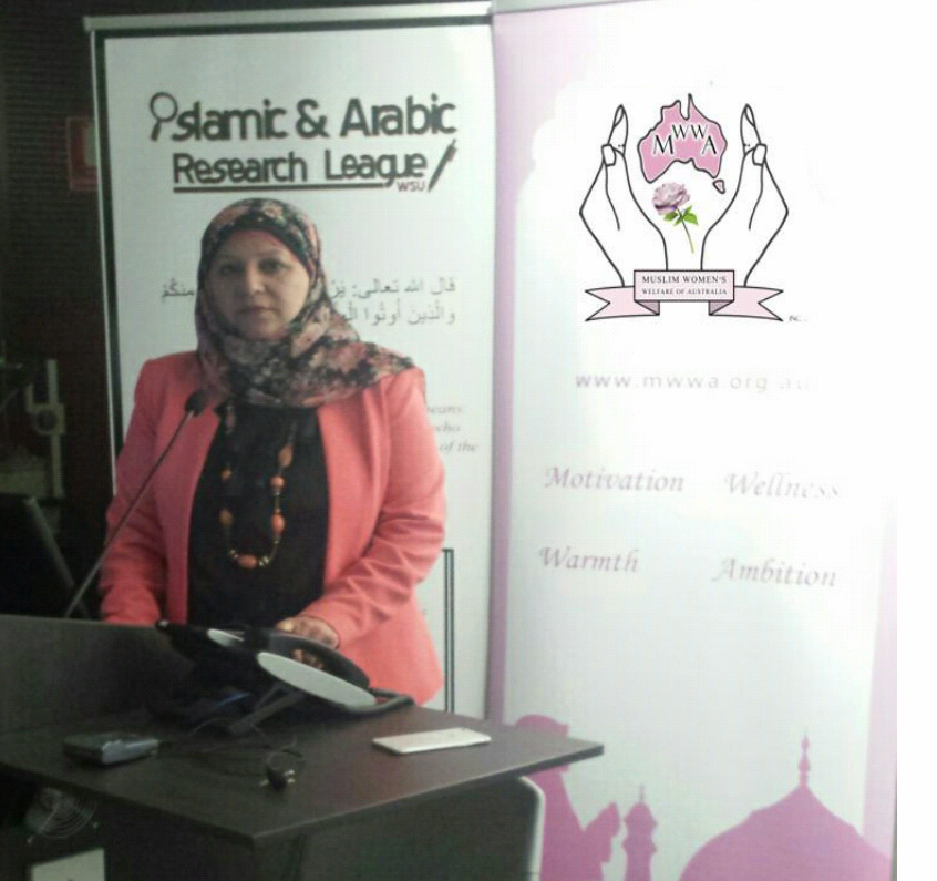 "MWWa attended ""Veil in Certitude"" 2015. Mrs Faten El Dana OAM"