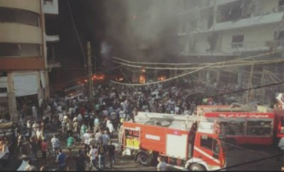 Friday terrorist attack in southern Beirut.