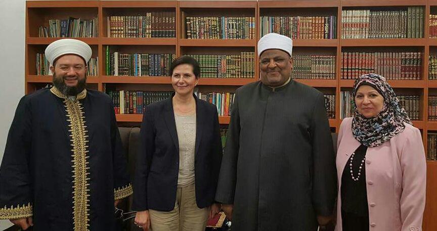 Chairman of Darulfatwa , Dr Sheikh Salim Alwan , Senator Fierraventi-Wells, Dr Abbas Chouman& MWWA president mrs Faten El Dana OAM