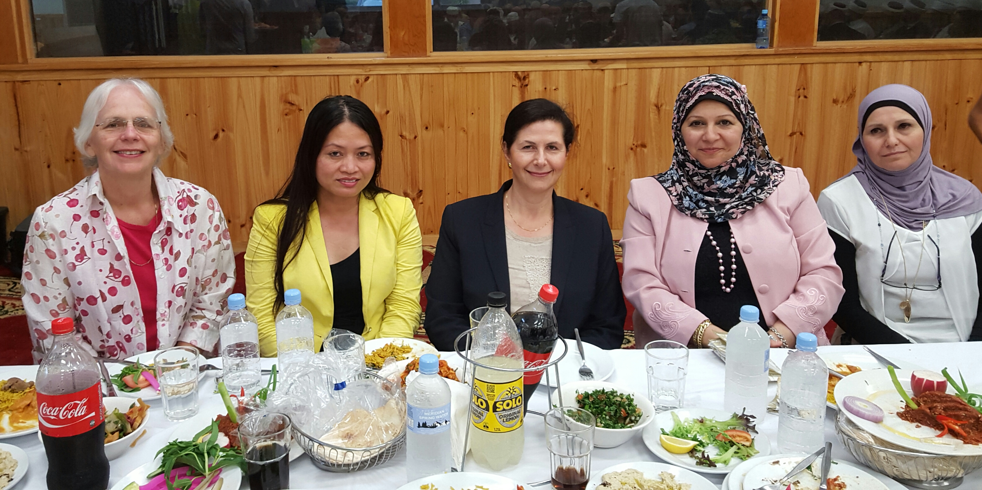 Senator Concetta Fierravent wells with members of MWWA and Thida Yang from Multicultural NSW