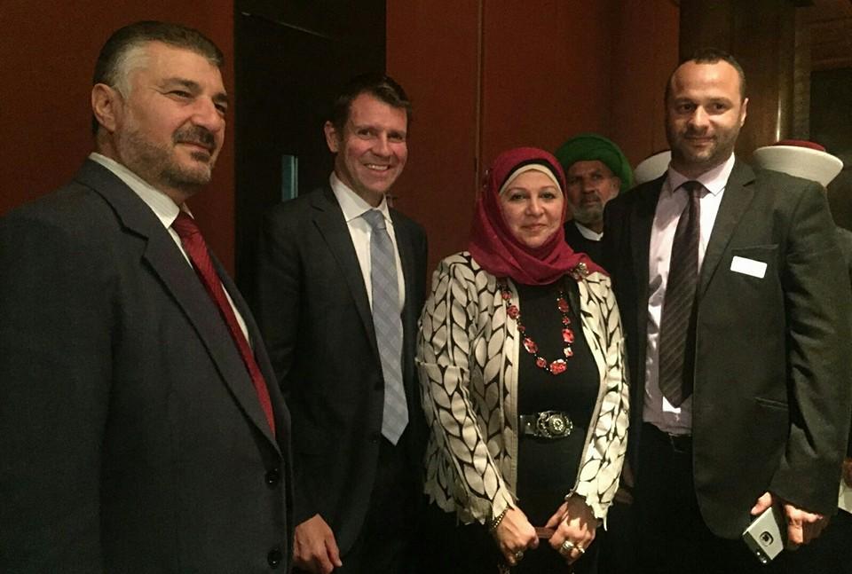 Mr Mohammad El Dana, Premier Mike Baird, Hajjeh Faten El Dana OAM & Mr Rafic Hussein