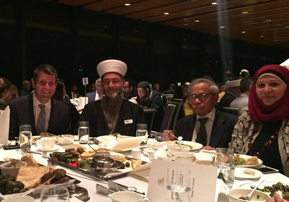 Premier Mike Baird , Sheikh Bilal Humaysi & Hajjeh Faten El Dana OAM