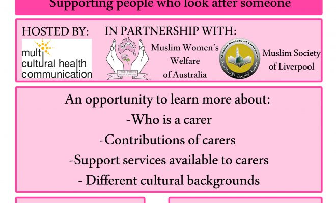 MWWA carers information session flyer