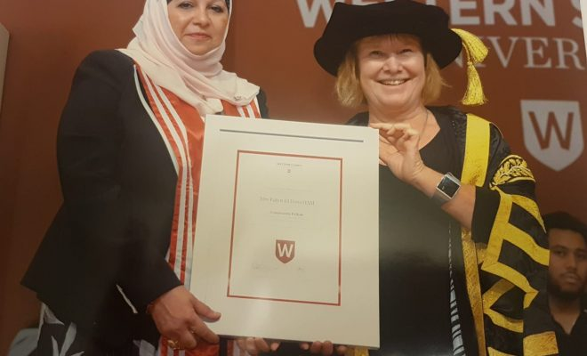 The Community Fellow of The University of Western Sydney Mrs Faten El Dana OAM